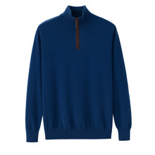 Pure cashmere sweater for men in autumn and winter