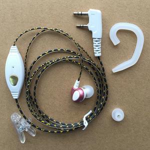 岚讯对讲机耳机时尚花纹入耳塞软耳挂式耳机K头耳麦线满5送1包邮