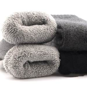 超厚兔男士<span class=H>袜子</span>加厚毛圈袜羊毛冬季中筒袜纯色女士多色巨厚雪地袜