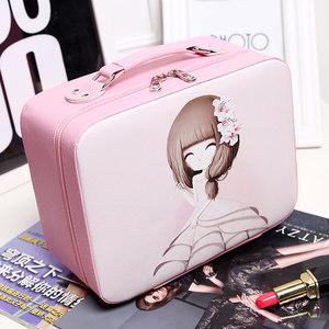韩国网红化妆包ins可爱少女小号便携收纳盒简约大容量<span class=H>化妆箱</span>手提