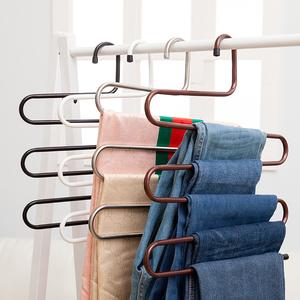 居家S型多功能防滑多层多用途收纳整理裤子不锈钢<span class=H>魔术</span><span class=H>裤架</span>特价