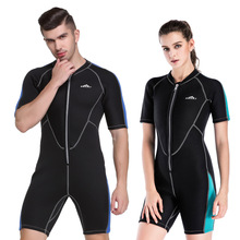 Shark Bart 2mm Thickened Thermal Diving Suit Men's and Women's Winter Swimming Suit Connected Diving Suit Thermal Snorkeling Suit Surfing Suit