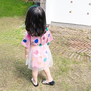 女童连衣裙2019新款儿童1短袖3超洋气T恤纱裙5岁宝宝夏装公主<span class=H>裙子</span>