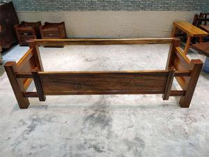 高端定制款奥坎大阪支架 实木大板配套<span class=H>桌腿</span>办公桌搭配原木脚架