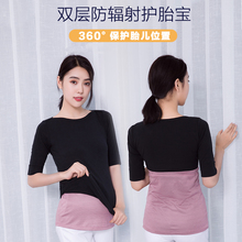 Radiation-proof maternity clothes wearing abdominal pocket aprons during pregnancy to work large-scale radiation-proof clothes for women in summer