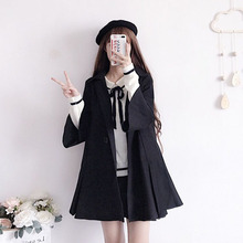 2008 Popular Overcoat Autumn and Winter New Fashion Korean Edition Mid-long Belt Turn-collar Fabric Coat Student Top Tide