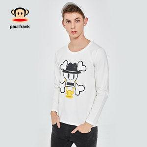 PaulFrank/大嘴猴长袖<span class=H>t恤</span>男2018新款上衣时尚韩版百搭打底衣男