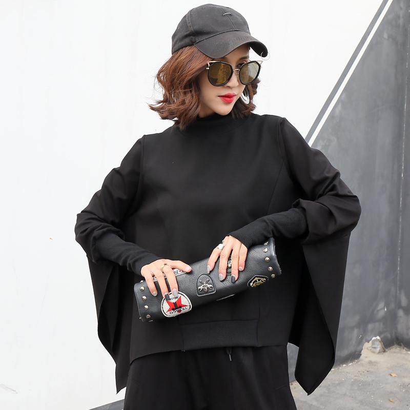 秋冬新款个性女装欧美街头蝙蝠