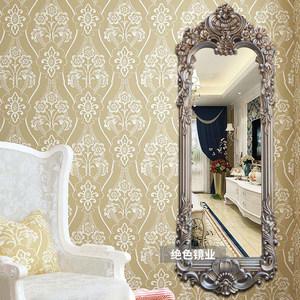 欧式美式复古穿衣镜<span class=H>试衣镜</span>全身镜玄关镜壁挂服装店发廊美容镜子
