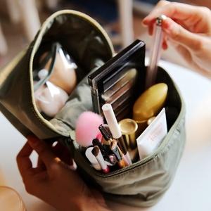 简约旅行便携竖款<span class=H>化妆包</span>手提袋洗漱包多功能彩妆分类收纳包