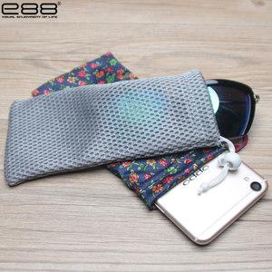 E88多功能布袋 通用<span class=H>眼镜</span>袋 便携式<span class=H>袋子</span> 近视镜太阳镜袋 包邮