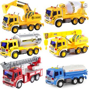 大号消防洒水车挖土工程水泥搅拌吊车油罐挖掘机儿童玩具男孩<span class=H>汽车</span>