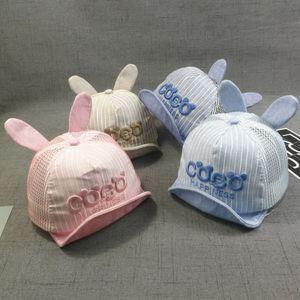 新款coco大兔子耳朵夏季纯棉网帽透气婴儿棒球<span class=H>帽子</span>潮宝宝遮阳批发