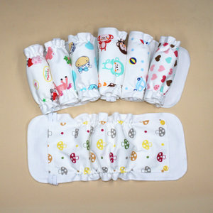 4条 宝宝尿布裤纯棉新生婴儿防水透气尿布兜可洗春夏可把尿布<span class=H>尿裤</span>
