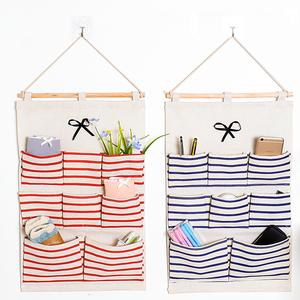 小清新布艺收纳挂袋悬挂式挂兜衣柜墙上挂式耐用多层壁挂收纳袋