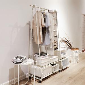 防锈 <span class=H>衣帽架</span> 落地现代简约组合卧室挂衣架简易移动 晾衣架 衣服架