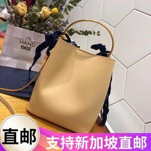 CHARLES£¦KEITH新加坡正品洋气水桶包小CK单肩女包蝴蝶结金属手提