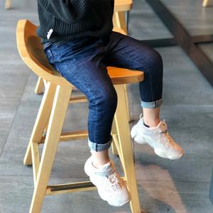童装男童<span class=H>裤子</span>2018秋装新款牛仔裤韩版儿童小脚修身中童紧身长裤潮