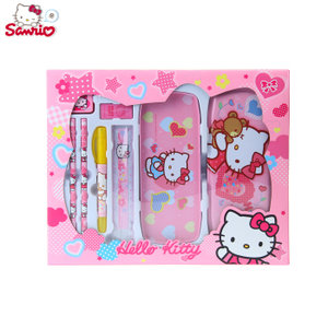 正品Hello Kitty 儿童<span class=H>文具</span><span class=H>礼盒</span>套装 小学生学习用品用具生日礼物