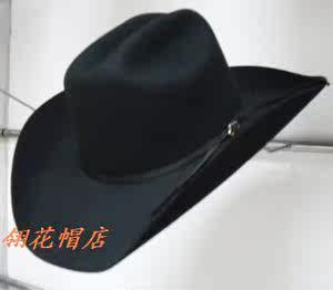 热销<span class=H>硬</span>顶毛呢<span class=H>礼帽</span>西部牛仔帽 骑马帽  男士女士 羊毛大檐帽子