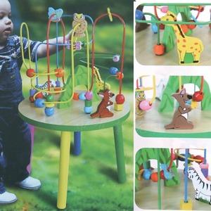 viga绕珠圆桌58971|维嘉教玩具多功能游戏桌早教中心认知教学玩具
