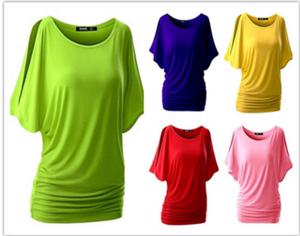 欧美<span class=H>女装</span>ebay速卖通爆款性感圆领蝙蝠短袖T恤<span class=H>上衣</span>