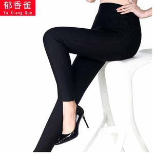 女士秋冬季高腰加肥打底裤外穿加厚加绒加大码中老年弹力保暖<span class=H>棉裤</span>