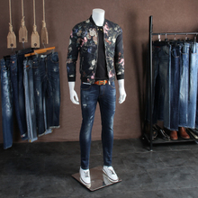 Spring Fashion Korean Version Personal Flower Blouse, Large Size Men's Casual Jacket, Short-style Jacket and Young Men's Trend in 2018