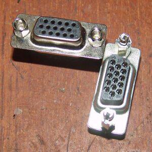 标准VGA<span class=H>座子</span> VGA视频插座 显示器插头