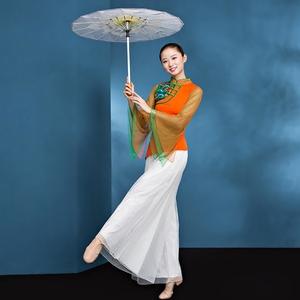 广场舞<span class=H>服装</span>女2019新款现代古典秧歌服演出服伞舞民族舞蹈成人套装