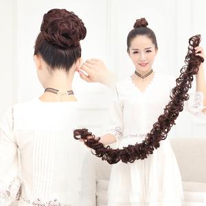 假发发圈毛毛虫缠绕式盘发发条女士卷发花苞<span class=H>丸子</span>头新娘蓬松发饰