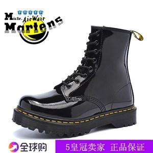 micle.martens<span class=H>马丁靴</span>女1460高帮真皮8孔厚底黑色漆皮短靴DR男女靴
