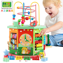 Multifunctional eight-sided jewelry string jewelry box baby development beneficial intelligence children boys and girls 1-3-6 years old toys