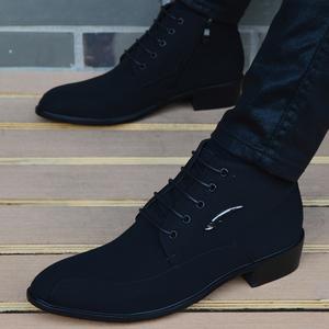 男<span class=H>靴子</span>韩版英伦尖头短靴男士高帮皮鞋商务休闲鞋马丁靴<span class=H>男鞋</span>子潮流