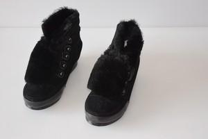 商场撤柜正品休闲女靴内增高牛皮短靴真皮系带靴子2717101
