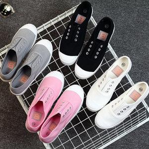 大码<span class=H>女鞋</span>41-43码夏秋新款女式帆布鞋女chic白色运动板鞋小白鞋40
