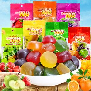 进口<span class=H>糖果</span>LOT100一百份芒果什锦果汁软糖QQ橡皮糖<span class=H>水果</span>糖喜糖150g