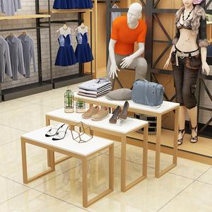 服装店<span class=H>鞋子</span><span class=H>包包</span>展示桌商场岛桌流水台高低展示架组合陈列架