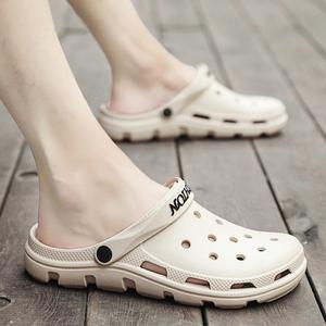 夏季凉鞋潮流2019新款青年外穿休闲沙滩包头洞洞鞋男士两用<span class=H>拖鞋</span>潮