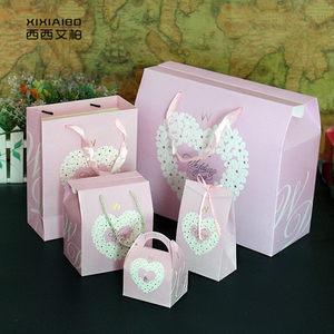 回礼袋婚礼糖盒结婚礼品袋喜糖袋子<span class=H>手提袋</span>大号纸袋喜糖盒子礼品盒