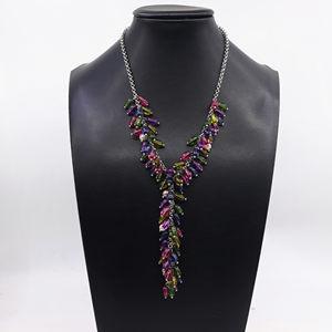 欧美风<span class=H>毛衣链</span>气质女中长款吊配饰街拍饰品夏季糖果色珠珠手链项链