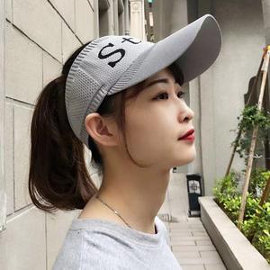 帽子女夏天ins空顶太阳帽韩版潮街头户外运动帽跑步遮阳帽棒球帽