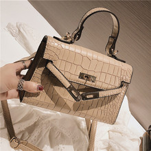 Bag Fairy New Fashion Hand-held Kelly Baugang Wind Slant Bag Korean Chao Retro Single Shoulder Bag in 2018