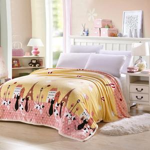 法兰绒毛毯床单法莱绒<span class=H>毛巾被</span>夏被四季空调午睡盖毯加厚珊瑚绒毯子