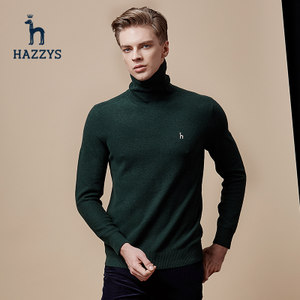 hazzys哈吉斯男士高领羊<span class=H>毛衣</span>冬季新款针织衫长袖<span class=H>时尚</span><span class=H>英伦</span>气质休闲