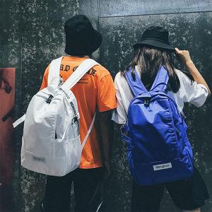 运动双肩包女韩版潮轻便大容量校园高中学生书包初中男女电脑背包
