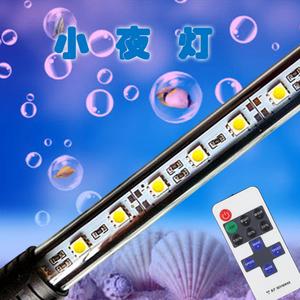 鹦鹉龙鱼小夜灯三湖水族箱潜水灯LED鱼缸水族灯USB遥控小型<span class=H>鱼缸灯</span>