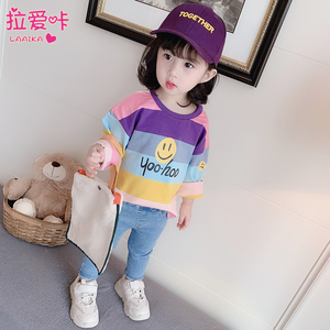 【拉爱咔】春装女童薄款长袖T恤