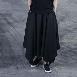 非主流元素吊裆大裆裤<span class=H>裙裤</span><span class=H>另类</span>个性<span class=H>潮男</span>发型师服装朋克宽松哈伦裤