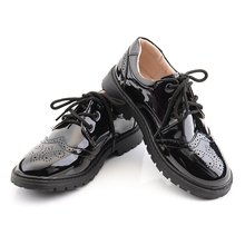 Children's Leather Shoes Primary School Performance Shoes Soft soles Slip-proof and Wearable Children's Leather Shoes Boys Spring and Autumn